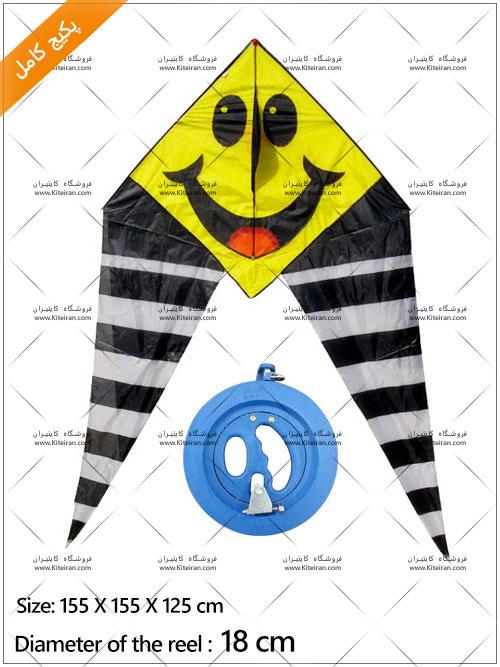 بادبادک لبخند مصری درجه یک + قرقره 20 + نخ و قلاب