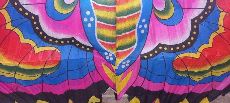 بادبادک پروانه بزرگ + قرقره کودک