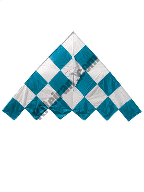 کایت دلتا شطرنجی آبی تاشو