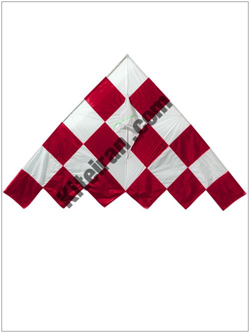 کایت دلتا شطرنجی قرمز لنسری (استوک)
