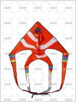 بادبادک ماهی آنجل کمرباریک قرمز